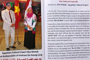 Nhà văn Ai Cập xuất bản sách viết về Chủ tịch Hồ Chí Minh và Việt Nam