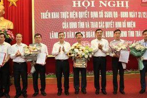 Nhân sự mới bổ nhiệm ở các tỉnh Thái Bình, Ninh Bình và Nghệ An