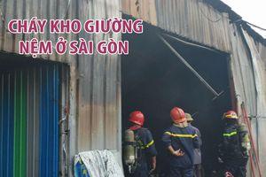 Cháy kho giường nệm gần 1.000 mét vuông giữa trưa ở Sài Gòn