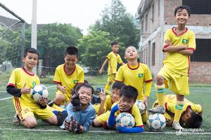 Nhi đồng Nghi Lộc đặt quyết tâm vào chơi trận chung kết Giải bóng đá TN-NĐ Cúp Báo Nghệ An