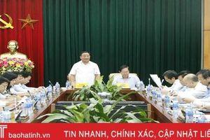 Hà Tĩnh xin ý kiến Bộ Nội vụ về sắp xếp đơn vị hành chính cấp huyện, xã