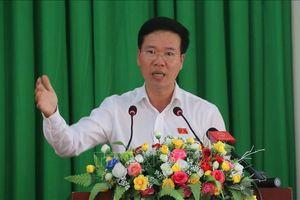 Trưởng Ban Tuyên giáo Trung ương Võ Văn Thưởng tiếp xúc cử tri tại Đồng Nai