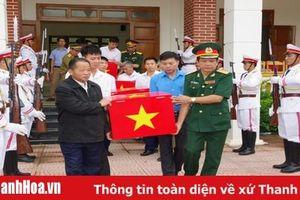 Thanh Hóa tiếp nhận 18 hài cốt liệt sỹ tại Lào về nước