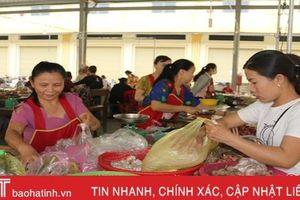 Hơn 90% tiểu thương từ chợ cũ vào kinh doanh tại chợ Bình Hương
