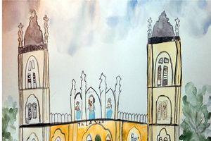 Xem những tranh, ký họa tuyệt đẹp về nhà thờ Bùi Chu