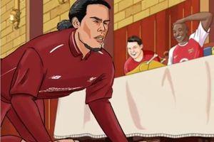 Hoạt hình Liverpool vấp ngã trước sự cười nhạo của MU, Man City