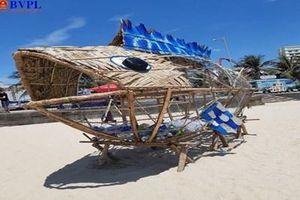 Độc đáo mô hình Bống 'ăn' rác thải nhựa trên bãi biển Đà Nẵng