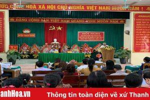 Đại biểu HĐND tỉnh tiếp xúc cử tri huyện Thạch Thành