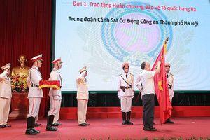 Cảnh sát cơ động Hà Nội đón nhận Huân chương Bảo vệ Tổ quốc hạng Ba
