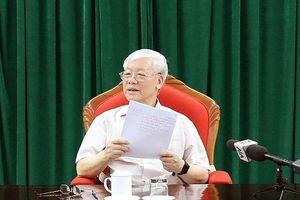 Tổng Bí thư, Chủ tịch nước chủ trì cuộc họp lãnh đạo chủ chốt