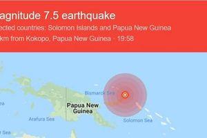 Động đất 7,7 độ rung chuyển Papua New Guinea, cảnh báo sóng thần