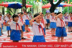 100% đội viên Trường Tiểu học Xuân Giang đạt các tiêu chí rèn luyện đội viên