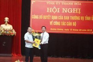 Bí thư Huyện ủy Quảng Xương làm Phó Ban Tuyên giáo Tỉnh ủy Thanh Hóa