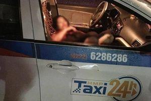 Người đàn ông dùng dao tự sát sau khi cứa cổ nữ tài xế taxi gần đền Lừ