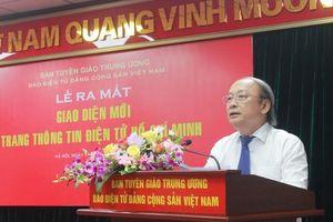 Trang Thông tin điện tử Hồ Chí Minh ra mắt giao diện mới