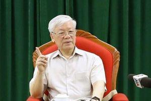 Tổng Bí thư, CTN Nguyễn Phú Trọng chủ trì họp lãnh đạo chủ chốt