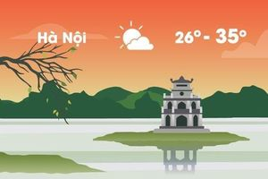 Thời tiết ngày 15/5: Hà Nội nắng nóng 35 độ C