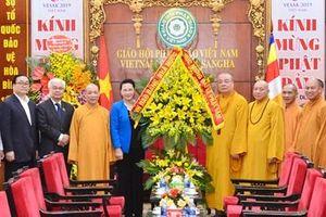 Chủ tịch Quốc hội chúc mừng Hội đồng Trị sự Trung ương Giáo hội Phật giáo Việt Nam