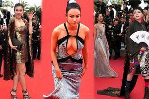 Loạt nghệ sĩ vô danh Trung Quốc khoe thân, làm lố trên thảm đỏ Cannes