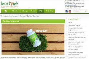 2 website quảng cáo sản phẩm Vina tảo và Egorex Omega 3.6.9 có dấu hiệu lừa dối