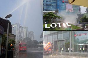Hà Nội: Cuộc giải cứu 4 người bị thương, mắc kẹt trong đám 'cháy' ở tòa nhà Lotte