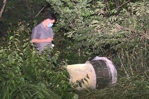 Kinh hoàng có đến 2 xác người trong thùng nhựa đổ bê tông