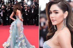 'Mỹ nhân đẹp nhất Thái Lan' mặc váy xuyên thấu, khoe nội y ở Cannes