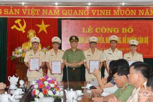 Nghệ An bổ nhiệm trưởng công an thành phố Vinh và một số đơn vị