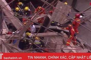 Hiện trường vụ sập nhà khiến 9 người mắc kẹt ở Thượng Hải, Trung Quốc
