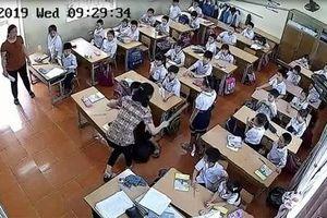 Phẫn nộ clip cô giáo trông thi tát tới tấp nhiều học sinh ở Hải Phòng