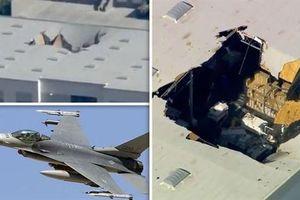 Clip F-16 Mỹ mang đầy vũ khí lao thủng nóc nhà