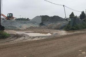 Hoài Đức, Hà Nội: Hàng loạt bãi tập kết vật liệu xây dựng gây ô nhiễm
