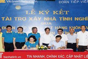 Đoàn Tiếp viên Hàng không Việt Nam tài trợ xây 8 nhà tình nghĩa cho cựu TNXP Hà Tĩnh