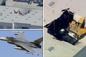 Khám phá máy bay chiến đấu F-16 rơi thủng mái nhà ở Mỹ