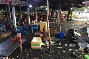 Khởi tố nhóm người đập phá quán ăn chặt chém, hành hung khách ở Long An