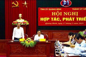 Bàn giải pháp đẩy mạnh hợp tác toàn diện giữa Hà Nội và Quảng Bình