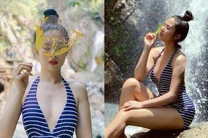 Gần 10 năm đăng quang, Hoa hậu Ngọc Hân lần hiếm hoi khoe dáng với bikini