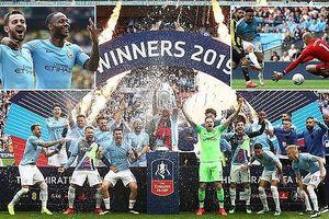 Sterling lập hat-trick, Man City 'chơi tennis' vô địch FA Cup