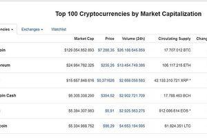 Thị trường tiền ảo: Vòng xoáy khó lường của Bitcoin và 'Big Six'