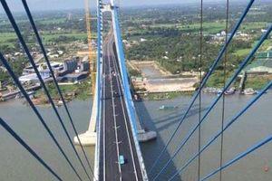 Cầu Vàm Cống bắc qua sông Hậu chính thức được khánh thành