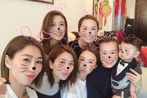 Hồ Hạnh Nhi tổ chức party 'Welcome baby' cùng nhóm bạn thân, Hồ Định Hân giả làm bà bầu