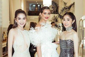 Ngọc Trinh diện váy xuyên thấu trong suốt khoe trọn body cực phẩm ở Cannes