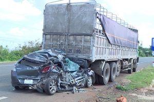 Tai nạn liên hoàn ở trạm BOT Đức Long Gia Lai, 2 vợ chồng bị thương nặng