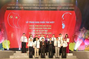 Khối thi đua các cơ quan đảng Trung ương trao giải Cuộc thi viết về học tập và làm theo Bác