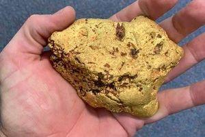 Dò kim loại, tình cờ phát hiện 1,4 kg vàng thô