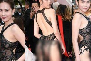 'Nữ hoàng nội y' mặc mỏng như sương tại Cannes nhận 'bão gạch đá'