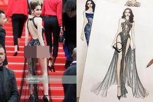 LHP Cannes 2019: Ngọc Trinh diện váy 'như có như không' lên thảm đỏ, NTK nói gì?