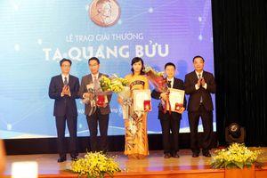 Ba nhà khoa học xuất sắc nhận giải thưởng Tạ Quang Bửu