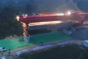 Cầu đường sắt cao tốc vượt biển đầu tiên ở Trung Quốc