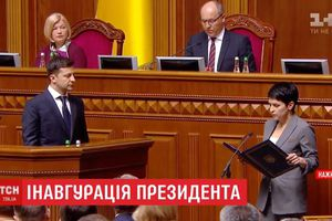 Chùm ảnh: Lễ nhậm chức Tổng thống Ukraine của ông Zelensky
